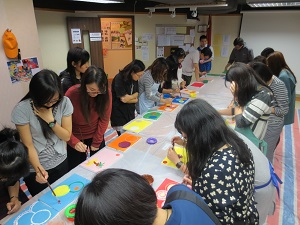 職青circle painting